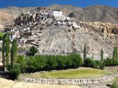 Lamayuru gompa - buddhist monastery in Indus valley - Ladakh - Jamu and Kashmir - India — Stock Photo