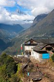 Portse thanga peak and entrance to khumbu valley - Lukla - Nepal — Stock Photo