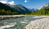Sumak river - sayan mountains - russia — Stock Photo