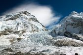 Ice-fall khumbu from everest b.c. — Stock Photo