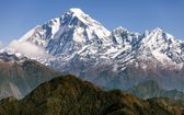 View of mount Dhaulagiri - Nepal — Stock Photo