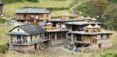 Guerrilla trek - Tatopani village - Village in western Nepal — Stock Photo