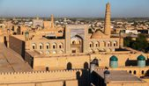 Evening view of Khiva (Chiva, Heva, Xiva, Chiwa, Khiveh) - Xorazm Province - Uzbekistan - Town on the silk road — Foto de Stock
