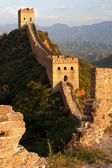 View of evening Great Wall of China located in Hebei province — Stockfoto