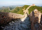 View of evening Great Wall of China located in Hebei province — Stock Photo