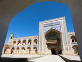 Mohammed Rakhim Khan Medressa in Itchan Kala (Ichon Qala) - Khiva (Chiva, Heva, Xiva, Chiwa, Khiveh) - Xorazm Province - Uzbekistan - Town on the silk road — Stock Photo