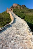 View of Great Wall of China located in Hebei province — Zdjęcie stockowe