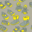 Seamless shoes — Stock Vector