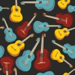 Seamless pattern isolated guitars — Stock Vector #4593812