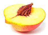 Half of nectarine fruit with pit — Stock Photo