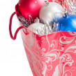 Royalty-Free Stock Photo: Bag with cristmas balls