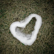 Heart made of snow. - Foto Stock