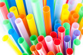 Color cocktail straws — Stock Photo