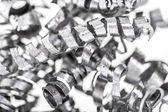 Background of metal shavings — Stock Photo