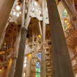Stock Photo: Barcelona, Sagrde Familia, Antonio Gaudi, interior, gallery, сolonnade, sculpture