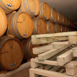 Wine cellar, barrels, aging, wine, winemaker, wood, tasting — Stock Photo #40361561