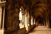 Lisbon, Portugal, interrior of Ancient monastery. History, culture, gothic, castle, stone — Stock Photo