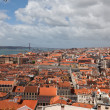 Portugal, Lisbon, observation platform, cityscape, Portuguese style, red roofs — Stock Photo