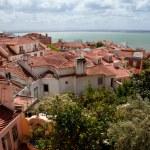 Portugal, Lisbon, observation platform, cityscape, Portuguese style — Stock Photo