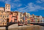Girona, Spain, South, Europe, Architecture, Travel — Stock Photo