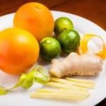 Постер, плакат: Still life with fruit platter