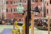 The Grand Canal, Venice, walk along the Grand canal, street lamp from murano glass — Stock Photo