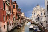 Italy, Venice, Piazza St. Mark's, flagpoles on sky background — Stock Photo