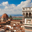Florence, Italy, Florence Cathedral, Brunnaleski dome, cityscape of Florence from Giotto tower — Stock Photo