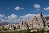 Cappadocia. Fantastic landscape. Anatolia, Turkey, ancient Christian monasteries, temples, churches, cave, cave hotel — Stock Photo