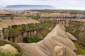 Cappadocia. Fantastic landscape. Anatolia, Turkey, ancient Christian monasteries, temples, churches, cave, cave hotel — Stock Photo
