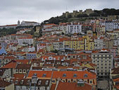 Lisbon, view over a part of the city — Stock Photo
