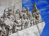 Lisbon, discoverer memorial at the river tejo — Stock Photo