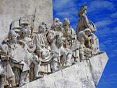 Lisbon, discoverer memorial at the river tejo — Stock Photo