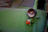 Details of an old forgotten little pickup — Zdjęcie stockowe