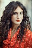 Portret pięknej pani — Zdjęcie stockowe