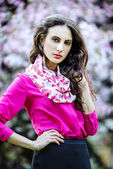 Spring portrait of a beautiful young woman — Stock Photo