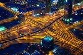 Dubais crossroads at evening — Foto Stock