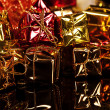 Many small colorful christmas presents — Stock Photo