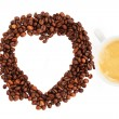I love coffee beans — Stock Photo