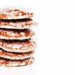 Stack of lebkuchen gingerbread cookies — Stock Photo
