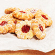 Some christmas cookies with jam — Stock Photo #31850007