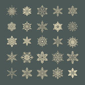 Snowflake set — Stock Photo