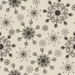 Hand drawn snowflakes pattern — Stock Photo