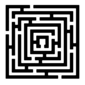 Rectangle maze izolated on white — Stock Photo