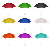Set of colorful umbrella icon isolated — Stock Photo