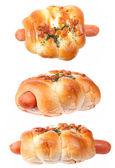 Sausage bun bakery — Stock Photo