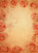 Old brown pink rose grunge paper background — Stock Photo
