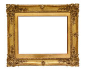 Vintage gold wooden picture frame — Stock Photo