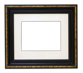 Vintage gold black wooden picture frame — Stock Photo
