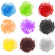 Colorful watercolor painting circle — Foto Stock